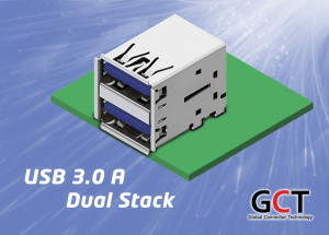 Dual Stacking USB3.0 Connector