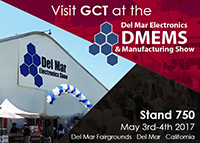 Visit GCT at the Del Mar Electronics & Manufacturing Show 2017