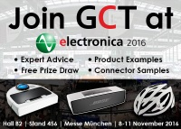 GCT Exhibiting at Electronica 2016 Munich