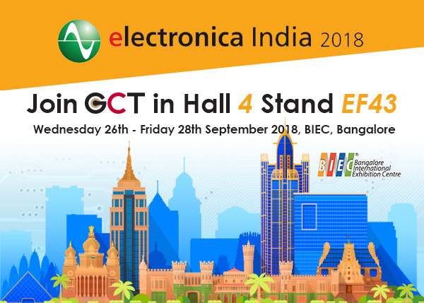 GCT Exhibits at Electronica India 2018