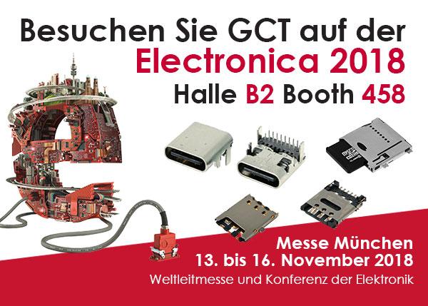 Besuchen Sie GCT auf der Electronica München 2018
