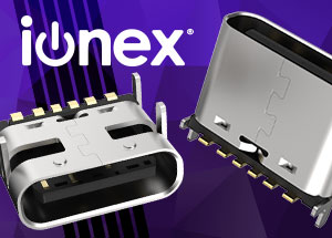 Introducing ionex® 6-Pin Type-C Charging Only Connectors by GCT