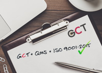 GCT is now ISO9001:2015 Certified