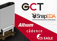 GCT Connector PCB Footprints Now Available on SnapEDA