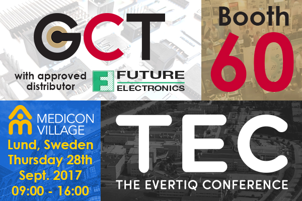 Join GCT at The Evertiq Conference, TEC Lund,Sweden