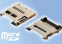 Micro SD Card Connectors with push push and hinged options