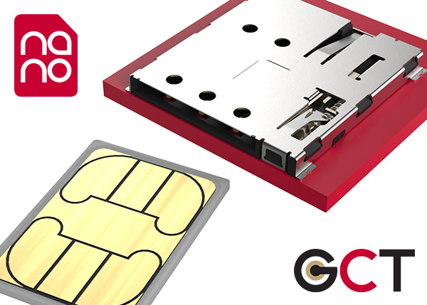 Nano SIM connector from GCT