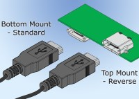 Reverse Mount Micro USB Connectors