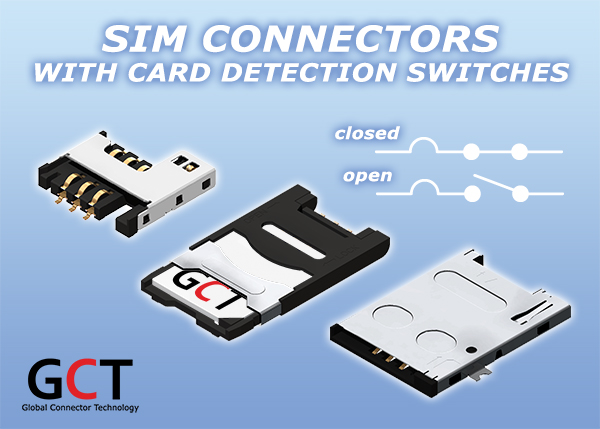 New SIM Card Connector with Card Detection Switch