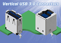 Vertical USB3 Connectors – A & B Types