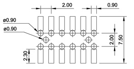 typical bottom entry pcb layout