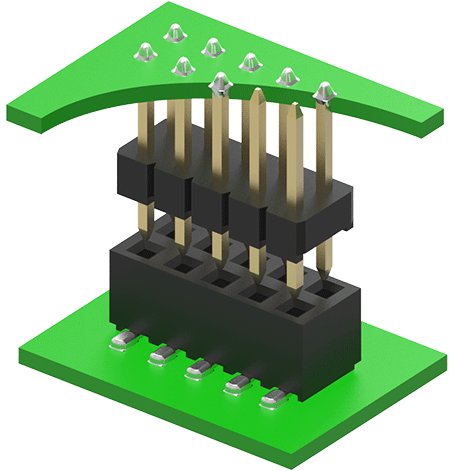 Pin Header Soldered to a PCB at both sides