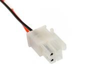 MiniFit cable plug 4 way connector, 2 positions populated cable assembly