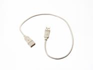 USB2.0 Cable assembly including cable mounted socket with white overmold