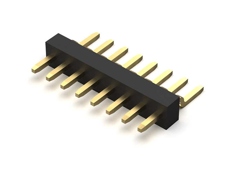 10 Contacts 1 mm Header BC020-10-A-0380-0300-L BC020-10-A-0380-0300-L 1 Rows Board-To-Board Connector BC020 Series Pack of 50 Through Hole