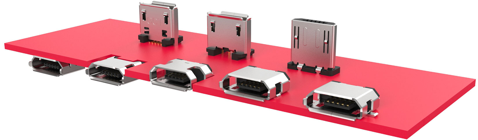Micro USB PCB Orientations and Mounting Types